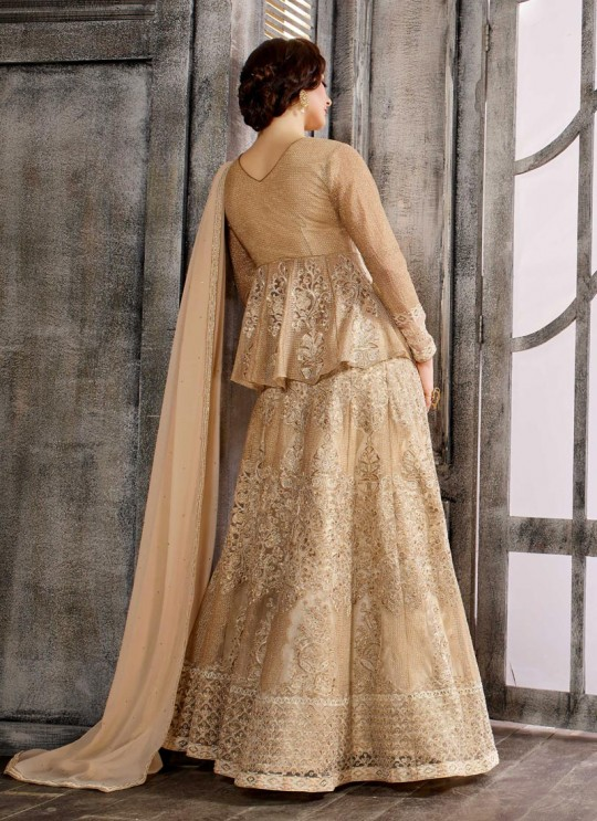 Gold Net Embroidered Skirt Kameez 1611-1619 1614 By Bela Fashion
