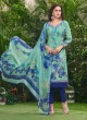 Green Cotton Straight Cut Suit HOUSE OF COTTON 2003 By Deepsy