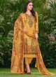 Mustard Cotton Straight Cut Suit HOUSE OF COTTON 2007 By Deepsy