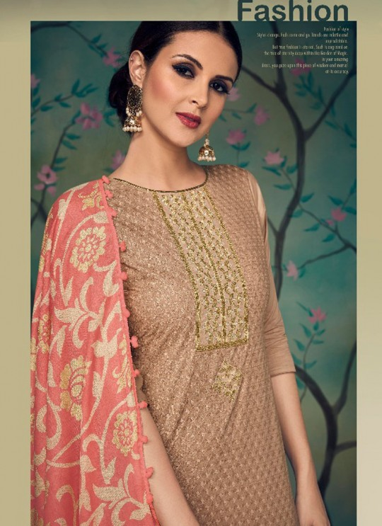 Brown Cotton Pakistani Salwar Kameez KARIGIRI NX 13002 By Deepsy