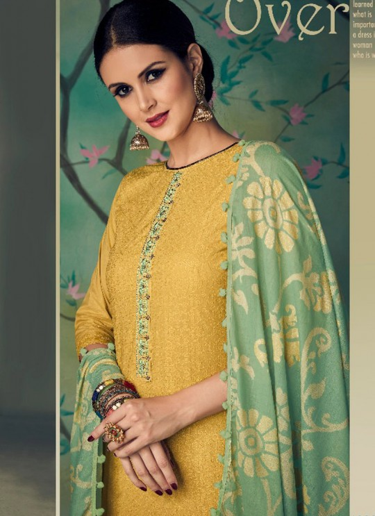Gold Cotton Pakistani Salwar Kameez KARIGIRI NX 13005 By Deepsy