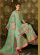 Green Geoegette Pakistani Palazzo Suit DULHAN 2 BRIDEL COLLECTION 2002B Color By Deepsy