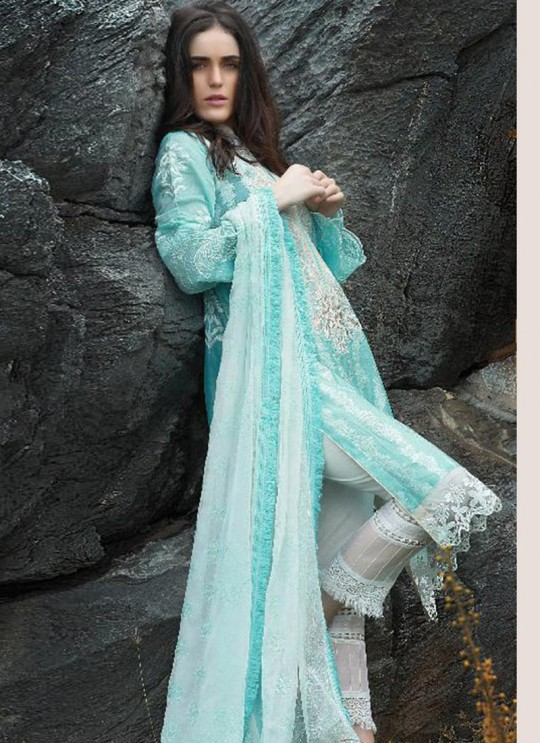 Turquoise Cotton Pakistani Salwar Kameez CREATION Vol-3 200405 By Deepsy