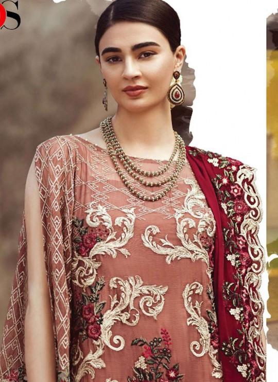 Brown Faux Georgette Pakistani Salwar Kameez IMORZIA-2 200504 By Deepsy
