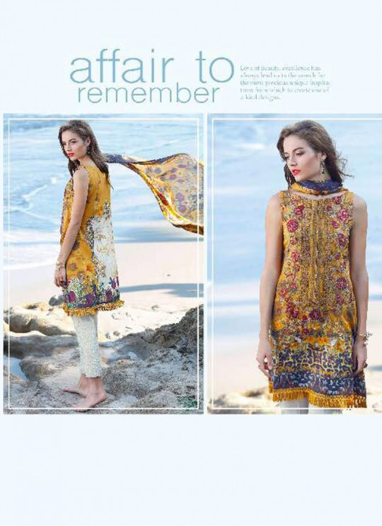 Yellow Cotton Pakistani Salwar Kameez FLORENT Vol-14 60005 By Deepsy