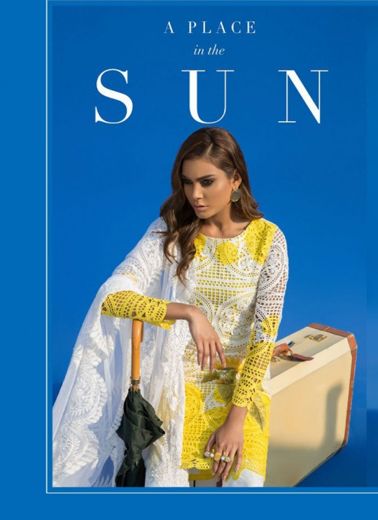 Yellow Cotton Pakistani Salwar Kameez SANA SAFINAZ NX 99003 By Deepsy