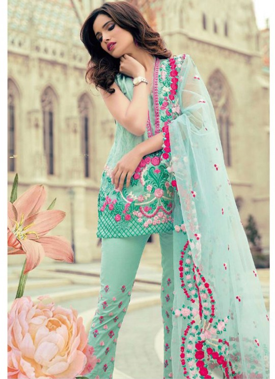 Green Cambric Cotton Embroidered Pakistani Salwar Suit ROSEMEEN CRAFTED LAWN BY FEPIC 17001 TO 17006 SERIES Fepic 17005