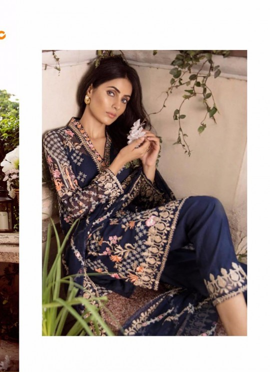 Blue Georgette Embroidered Pakistani Salwar Suit ROSEMEEN CRAVINGS BY FEPIC 25001 TO 25004 SERIES Fepic 25003