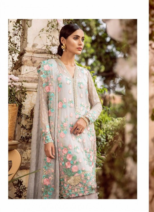 Grey Georgette Embroidered Pakistani Salwar Suit ROSEMEEN CRAVINGS BY FEPIC 25001 TO 25004 SERIES Set Fepic 25004