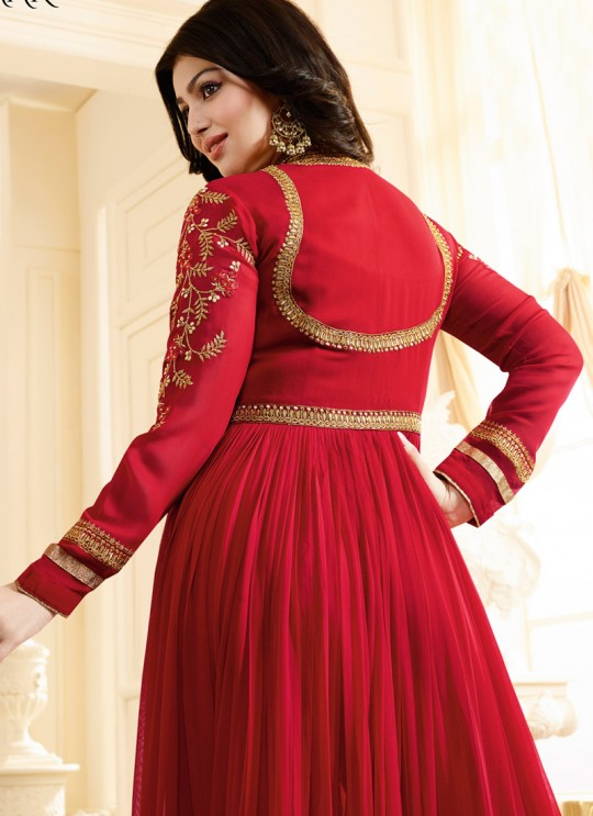 Red Georgette Floor Length Anarkali SIMAR VOL-10 17004 By Glossy