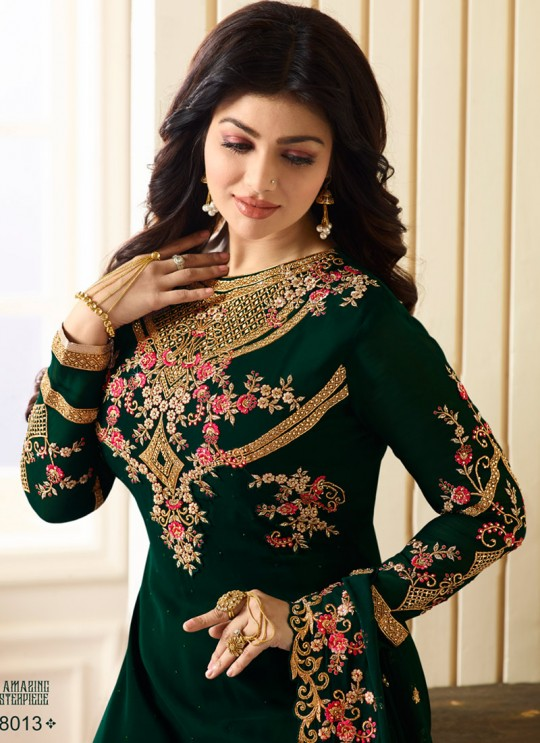 Green Georgette Churidar Suits SIMAR 18009 SERIES 18013 By Glossy