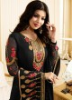 Black Georgette Straight Suit SUZEN 25102 By Glossy