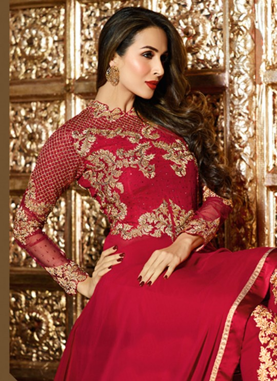 Red Georgette Gown Style Anarkali HIT DESIGNS VOL-2 6208 By Glossy