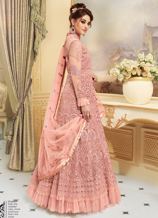 Light Pink Net Floor Length Anarkali SAPPHIRA Vol-2 7274 By Glossy