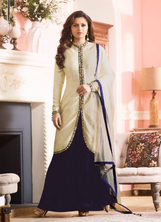 Blue Art Silk Jacket Style Anarkali Nitya Vol -97 97006 By Lt Fabrics