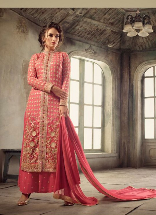 Pink Georgette Pant Style Suit GLAMOUR VOL 31 31004 By Mohini Fashion