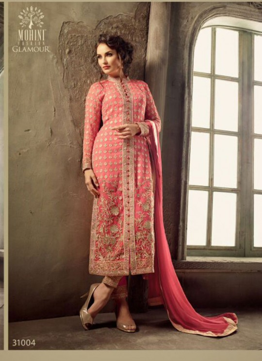 Maroon Georgette Pant Style Suit GLAMOUR VOL 31 31006B By Mohini Fashion