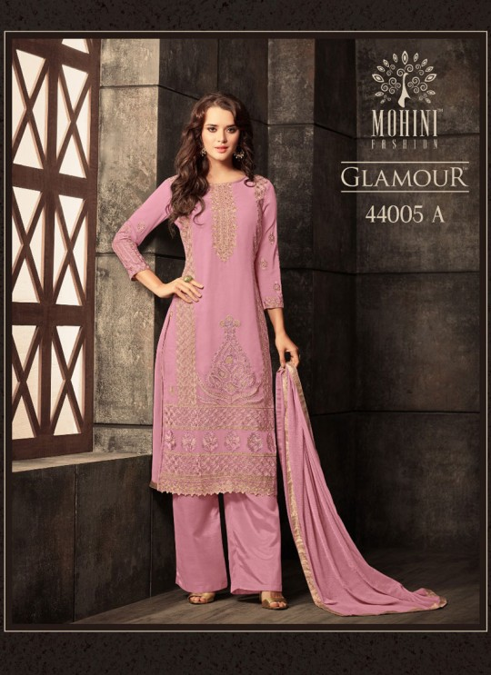 Pink Georgette Straight Suit GLAMOUR VOL 44 44005A By Mohini Fashion
