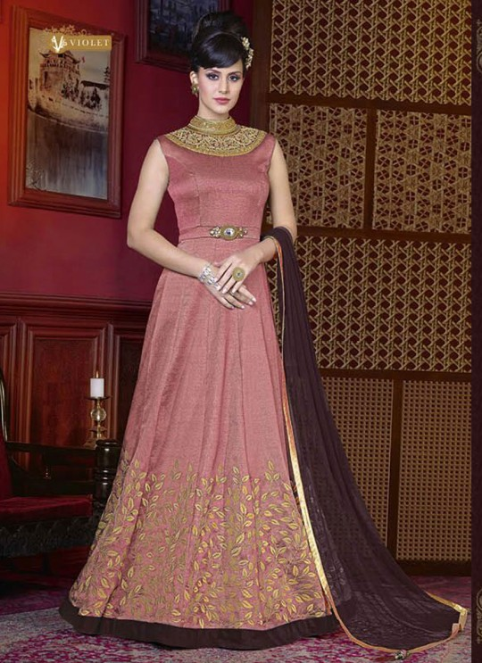 Pink Silk Gown Style Anarkali  5212A By Swagat NX