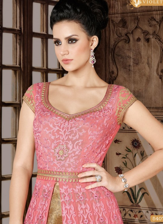 Pink Net Skirt Kameez  5407 By Swagat NX