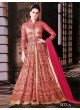 Pink, Gold Net Gown Style Suit  5412A By Swagat NX