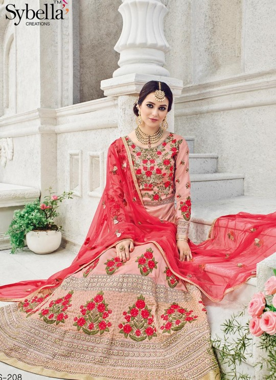 Pink Silk Floor Length Anarkali Sybella-208