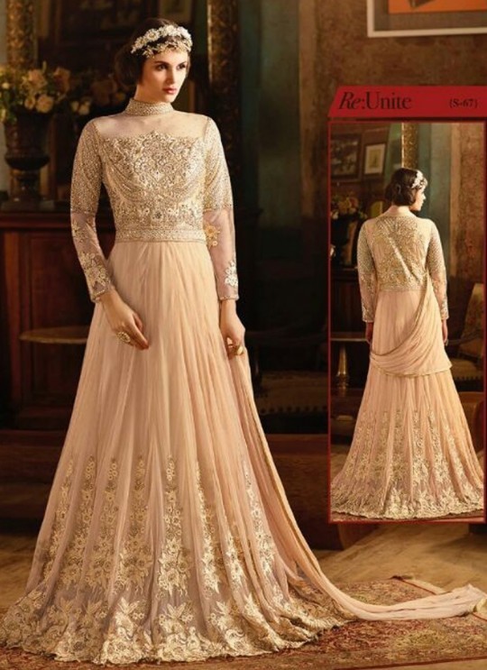 Gold Net Floor Length Anarkali Sybella-67