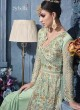 Green Net Gown Style Anarkali Sybella-82