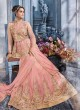 Pink Net Gown Style Anarkali Sybella-88
