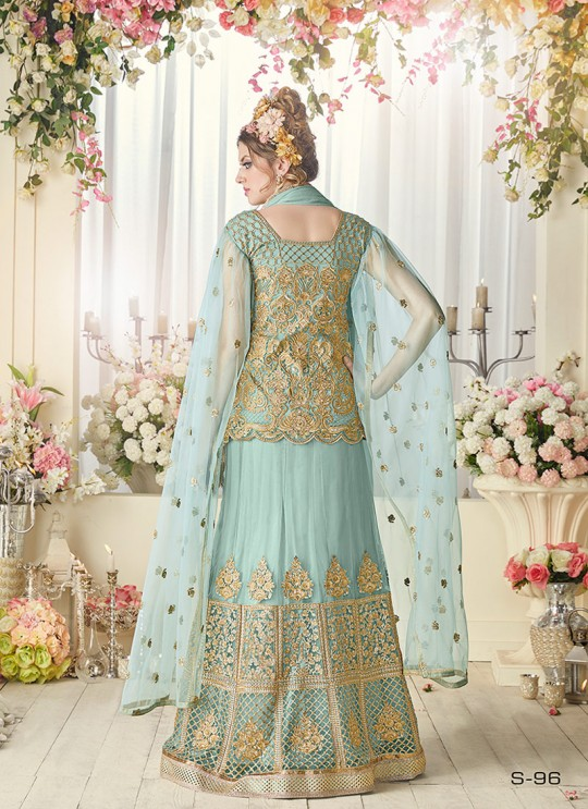 Ice Blue Net Gown Style Anarkali Sybella-96