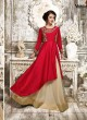 Red Art Silk Skirt Kameez Navya Vol-2 112 By Vardan