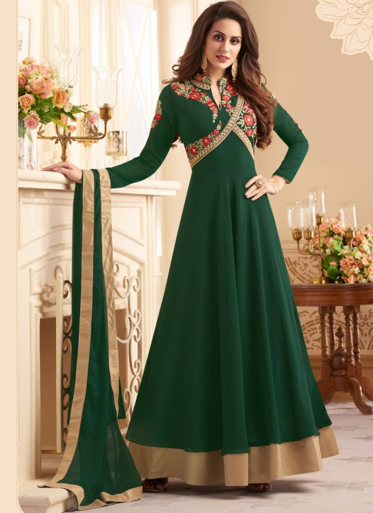 Green Art Silk Floor Length Anarkali Navya Vol-5 145 By Vardan