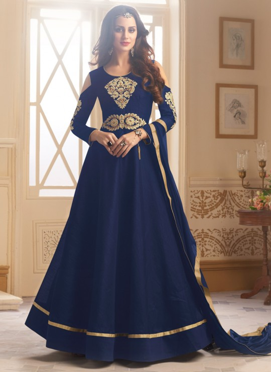 Blue Art Silk Gown Style Anarkali Navya Vol-5 147B Color By Vardan