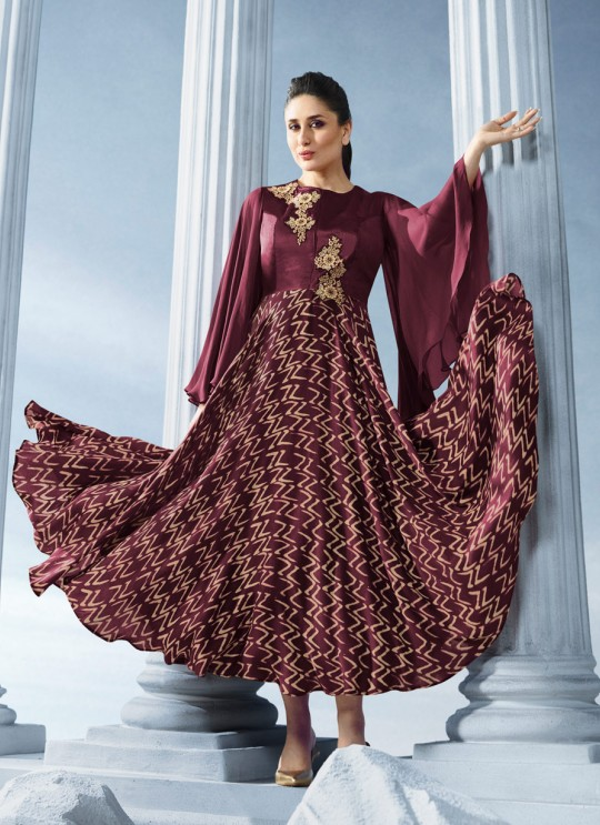 Wine Georgette Kurti Tumba Bebo Vol 2 33903 By Vinay Fashion