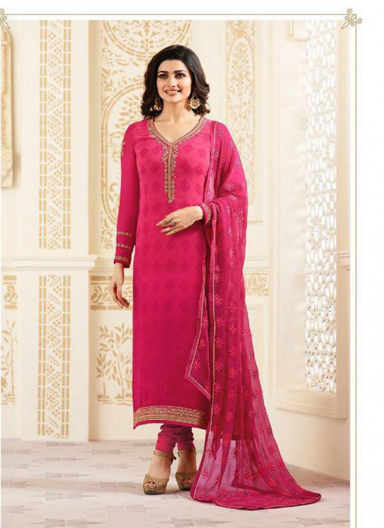 Pink Faux Georgette Straight Suit Nazakat 6544 By Vinay Fashion