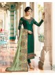 Green Silk Straight Suits Kaseesh Mumtaz 7086 By Vinay Fashion