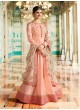 Peach Silk Floor Length Anarkali Raj Mahal 7172 By Vinay Fashion