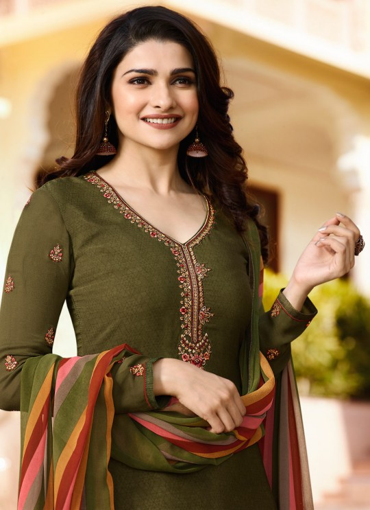 Green Crepe Patiala Salwar Suit Silkina Royal Crepe 16 7447 By Vinay Fashion
