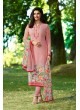 Pink Crepe Straight Suit Silkina Royal Crepe 17 7893 By Vinay Fashion