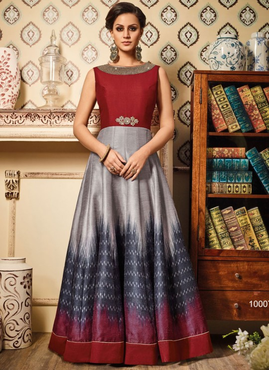 Multicolor Art Silk Gown Suit By Vipul Fashion VIPUL-10007