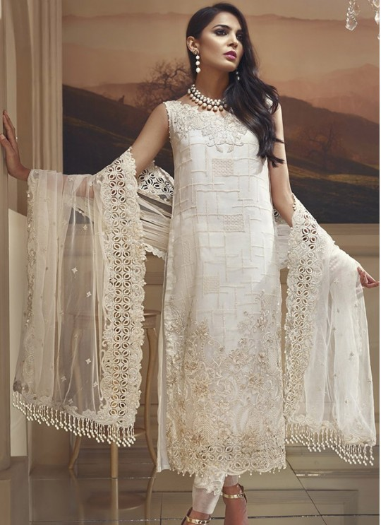 Off-white Net Pakistani Suit Zaylish Vol-1 102 By Volono Trendz