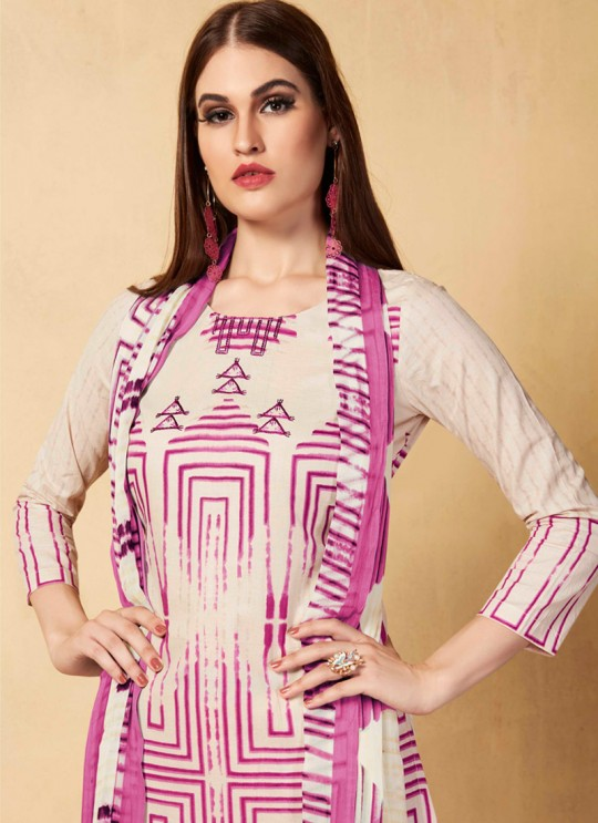 Magenta Cambric Cotton  Pant Style Suit Saidha vol 1 1002 By Volono Trendz