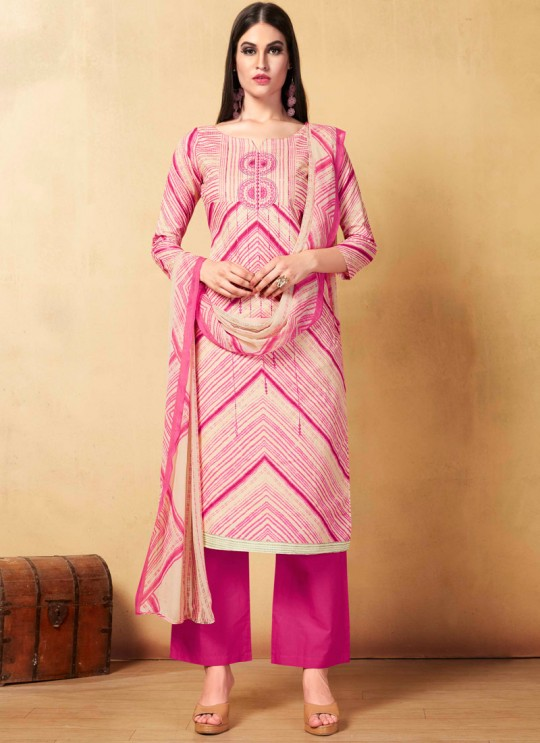 Pink Cambric Cotton  Pant Style Suit Saidha vol 1 1003 By Volono Trendz