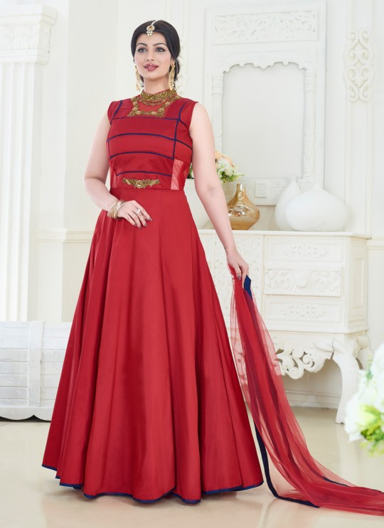 Maroon Art Silk Gown Style Anarkali Pari Vol-6 181 By Volono Trendz