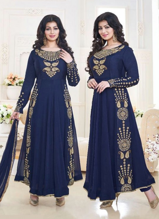 Blue Faux Georgette Anarkali Suit Pari Vol-6 183A Color By Volono Trendz