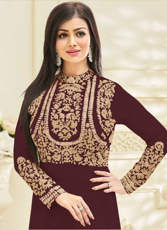 Brown Faux Georgette Floor Length Anarkali Pari 227 By Volono Trendz