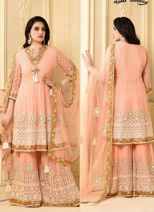 Grey Georgette Pakistani Sharara Suit CELEBRITY  2928 By Your Choice