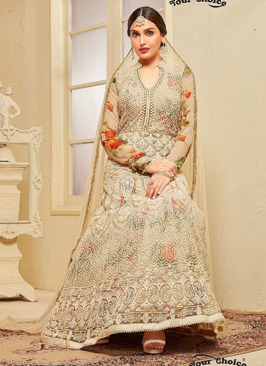 Gold Net Floor Length Anarkali OFIRA 9292 By Your Choice