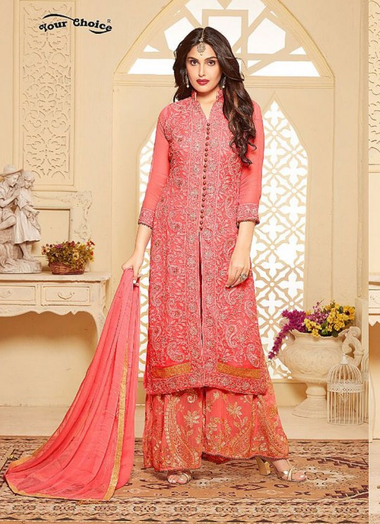 Pink Chiffon Palazzo Suit B MORE 2678 By Your Choice