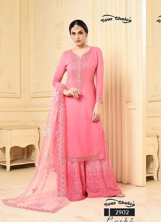 Pink Bamberg Georgette Palazzo Suit LASHA 2902 By Your Choice